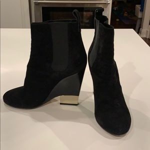 Givenchy Suede stretch booties with mirrored heel